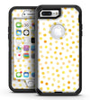 Yellow Watercolor Dots over White - iPhone 7 Plus/8 Plus OtterBox Case & Skin Kits