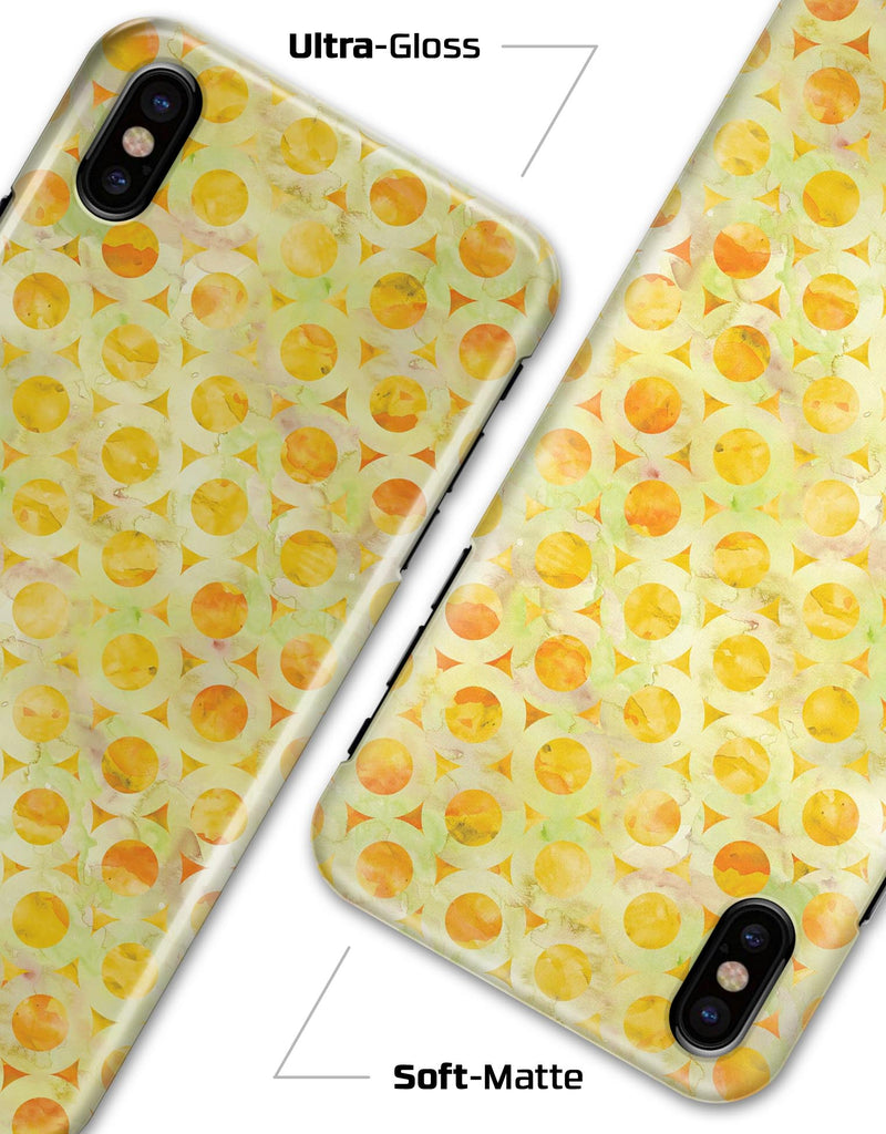 Yellow Watercolor Ring Pattern - iPhone X Clipit Case