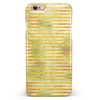 Yellow Watercolor Stripes iPhone 6/6s or 6/6s Plus INK-Fuzed Case
