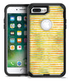 Yellow Watercolor Stripes - iPhone 7 or 7 Plus Commuter Case Skin Kit