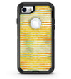 Yellow Watercolor Stripes - iPhone 7 or 8 OtterBox Case & Skin Kits