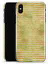 Yellow Watercolor Stripes - iPhone X Clipit Case