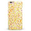 Yellow Watercolor Triangle Pattern iPhone 6/6s or 6/6s Plus INK-Fuzed Case