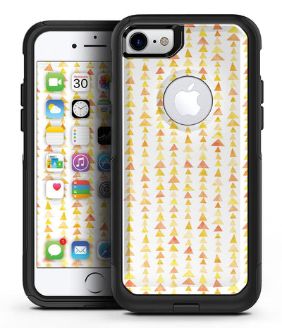 Yellow Watercolor Triangle Pattern V2 - iPhone 7 or 8 OtterBox Case & Skin Kits