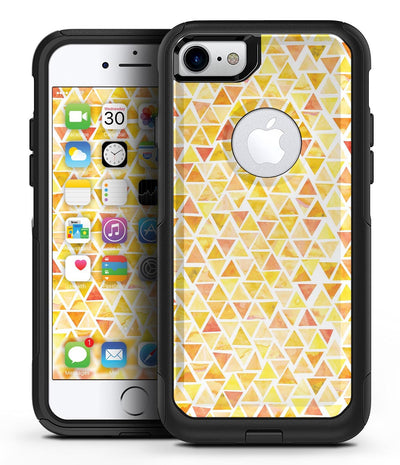 Yellow Watercolor Triangle Pattern - iPhone 7 or 8 OtterBox Case & Skin Kits