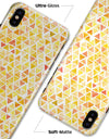 Yellow Watercolor Triangle Pattern - iPhone X Clipit Case