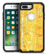 Yellow Watercolor Woodgrain - iPhone 7 or 7 Plus Commuter Case Skin Kit