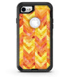 Yellow and Orange Watercolor Chevron Pattern - iPhone 7 or 8 OtterBox Case & Skin Kits