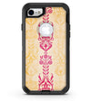 Yellow and Pink Floral Rococo Pattern - iPhone 7 or 8 OtterBox Case & Skin Kits