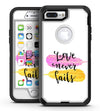Yellow and Pink Love Never Fails - iPhone 7 Plus/8 Plus OtterBox Case & Skin Kits