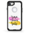 Yellow and Pink Love Never Fails - iPhone 7 or 8 OtterBox Case & Skin Kits