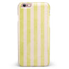 Yellow and White Verticle Stripes iPhone 6/6s or 6/6s Plus INK-Fuzed Case