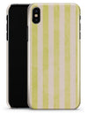 Yellow and White Verticle Stripes - iPhone X Clipit Case
