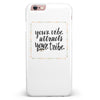 Your Vibe Attracts Your Tribe iPhone 6/6s or 6/6s Plus INK-Fuzed Case