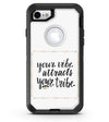 Your Vibe Attracts Your Tribe - iPhone 7 or 8 OtterBox Case & Skin Kits