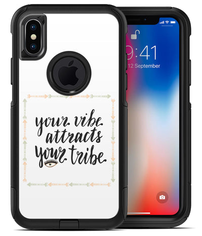 Your Vibe Attracts Your Tribe - iPhone X OtterBox Case & Skin Kits
