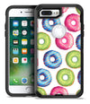 Yummy Colored Donut Galore - iPhone 7 or 7 Plus Commuter Case Skin Kit