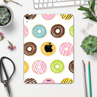 "Yummy Colored Donuts - Full Body Skin Decal for the Apple iPad Pro 12.9"", 11"", 10.5"", 9.7"", Air or Mini (All Models Available)"