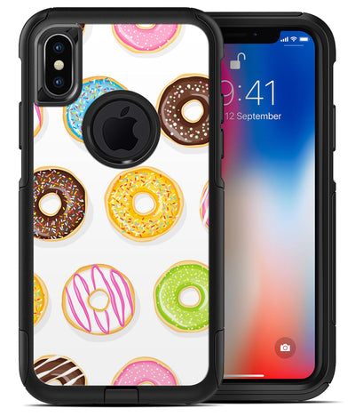 Yummy Colored Donuts - iPhone X OtterBox Case & Skin Kits