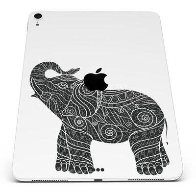 "Zendoodle Elephant - Full Body Skin Decal for the Apple iPad Pro 12.9"", 11"", 10.5"", 9.7"", Air or Mini (All Models Available)"