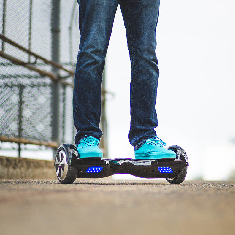 The Vintage Scratched Blue & Graytone Polka Full-Body Skin Set for the Smart Drifting SuperCharged iiRov HoverBoard