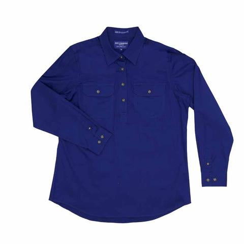 30303CBT - Boys Lachlan Work Shirt Cobalt - Just Country
