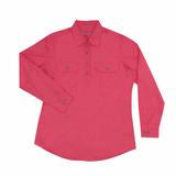 50505HPK Ladies Jahna Workshirt Hot Pink - Just Country