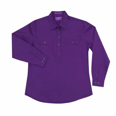 50505PUR Ladies Jahna Workshirt Purple - Just Country