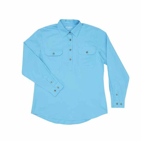 50505SKY Ladies Jahna Workshirt Sky - Just Country