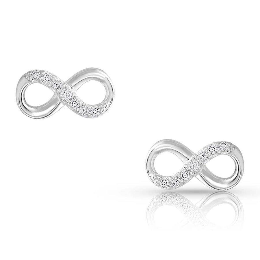 ER4474 Silver Shine Infinity Earrings