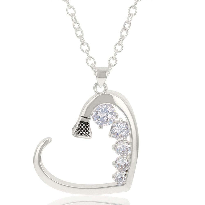 NC1136 Silver Horse Shoe Nail Necklace