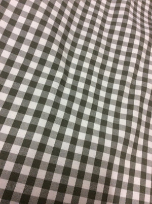5125-1 Goondiwindi Gingham Skirt - khaki and white