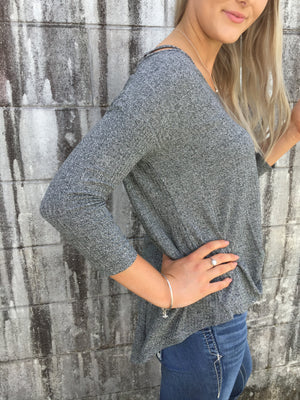 338-514-7082BL ROPER WOMENS KNIT TOP