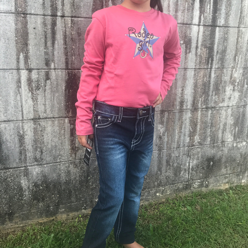 Girls Blush Rodeo L/S Tee - Ariat - 322685