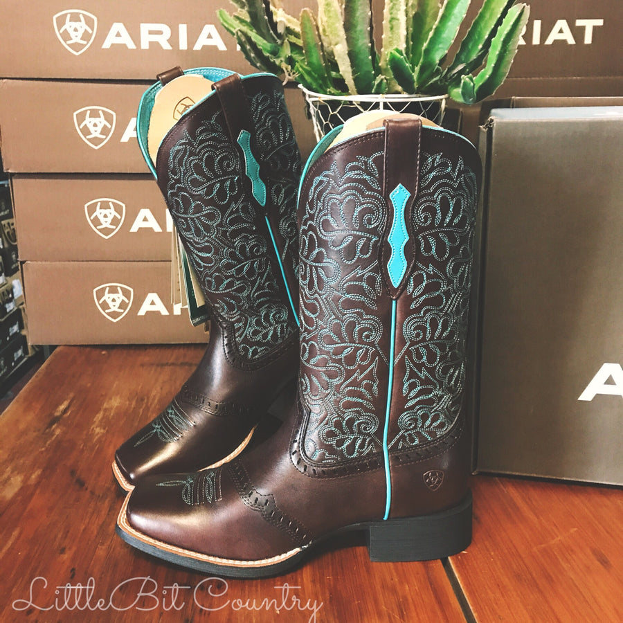 Ladies Round Up Remuda Turquoise - Ariat - 10019907