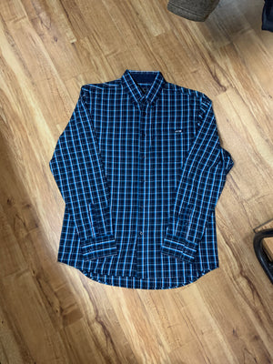 P0W1115291 Pure Western Mens Alfonso Check Button Long Sleeve Shirt