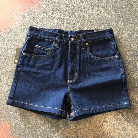 "HCP1301101 Mens Hard Slog Denim Shorts 4"" Leg"