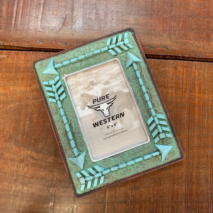 P9S1907GFT Turquoise Arrow Picture Frame