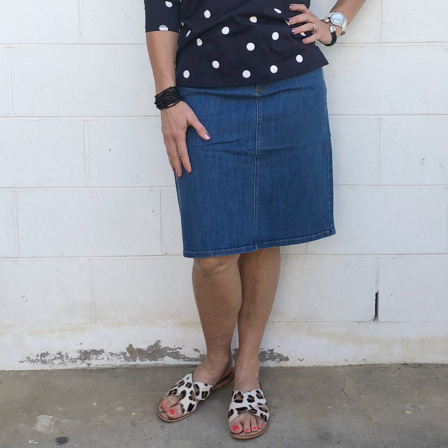 5129 Denim Skirt - Goondiwindi Cotton