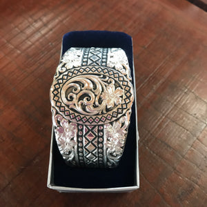 BC3353 Flowers & Diamonds Cuff Silver - Montana