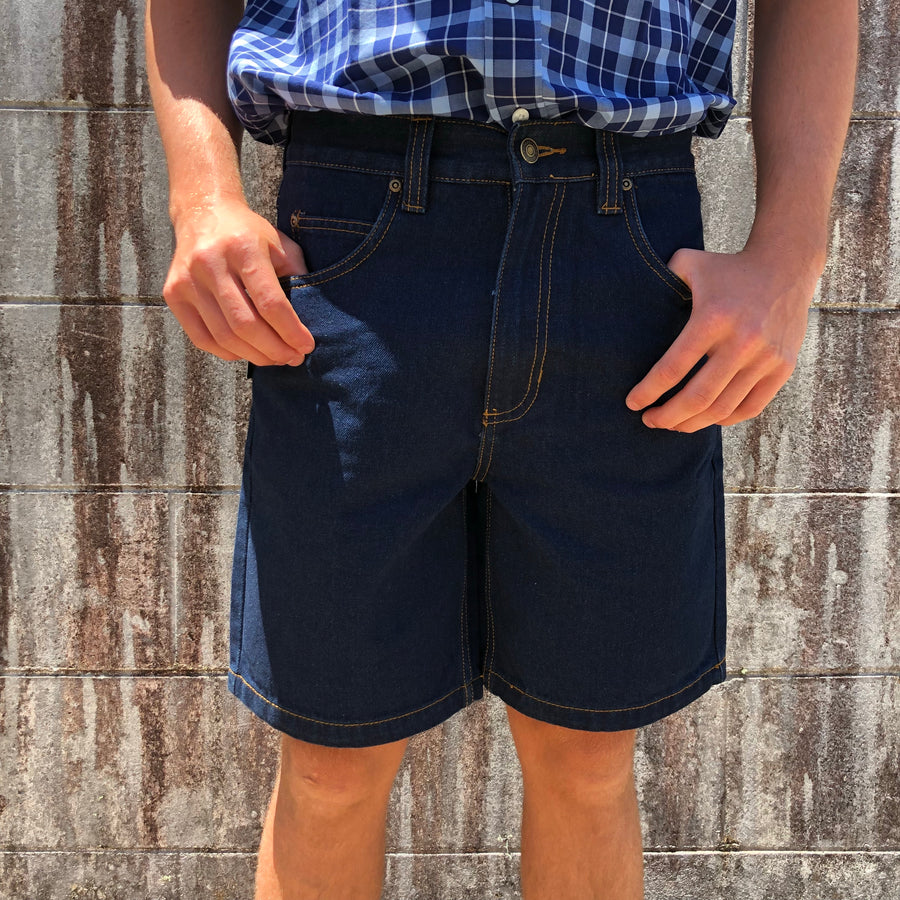 "Men's Hard Slog Denim Shorts 8"" leg"