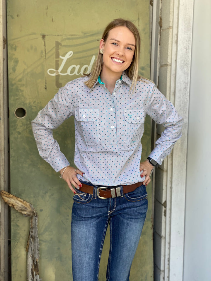 WWLS2036 LADIES GEORGIE SHIRT JUST COUNTRY
