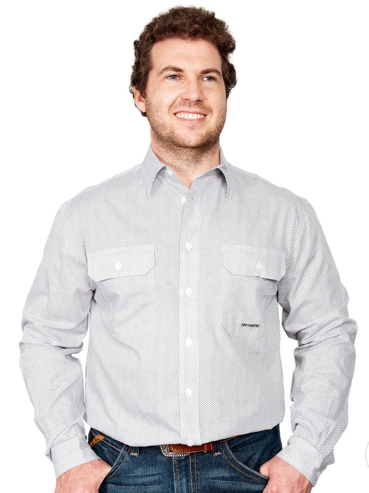 MWLS2043 MENS AUSTIN WORKSHIRT JUST COUNTRY