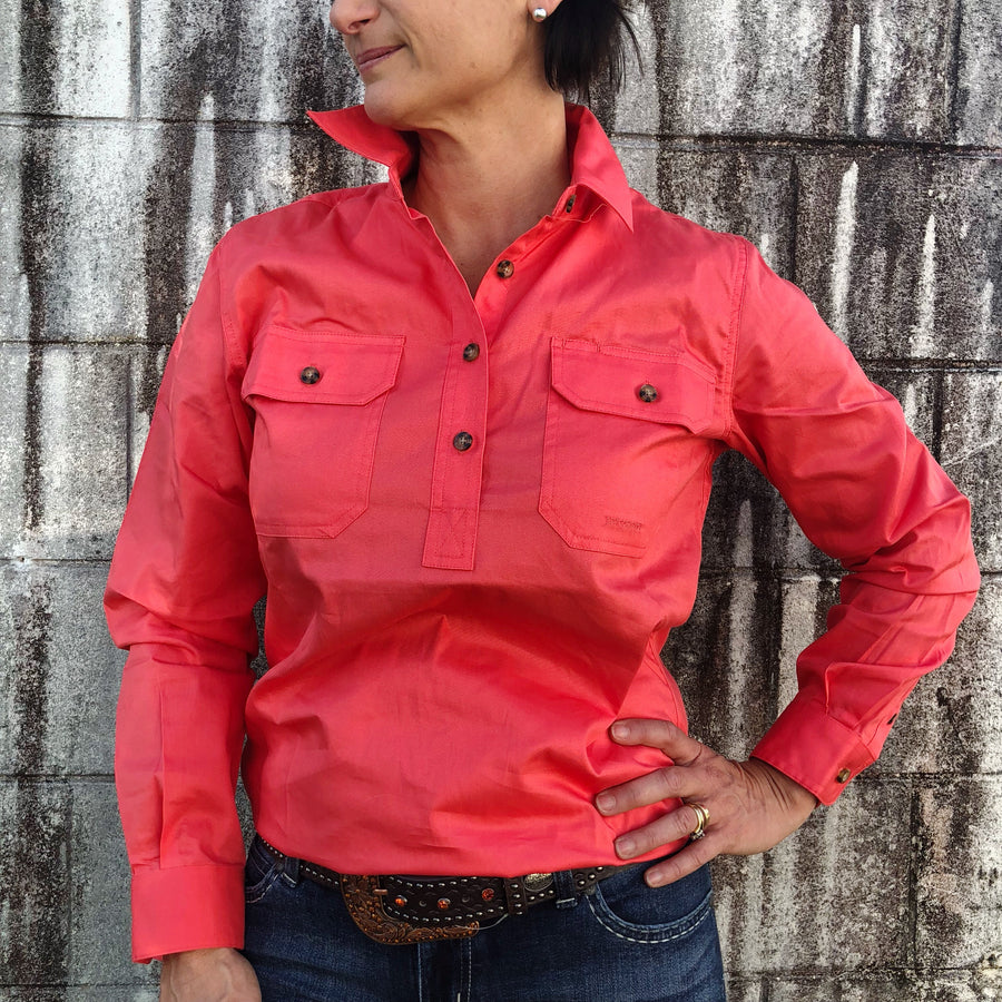 50505HCL Ladies Jahna Women's Work Shirt Hot Coral