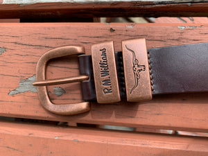 BSF5YCH4101 R.M. Williams Drover Anniversary Belt