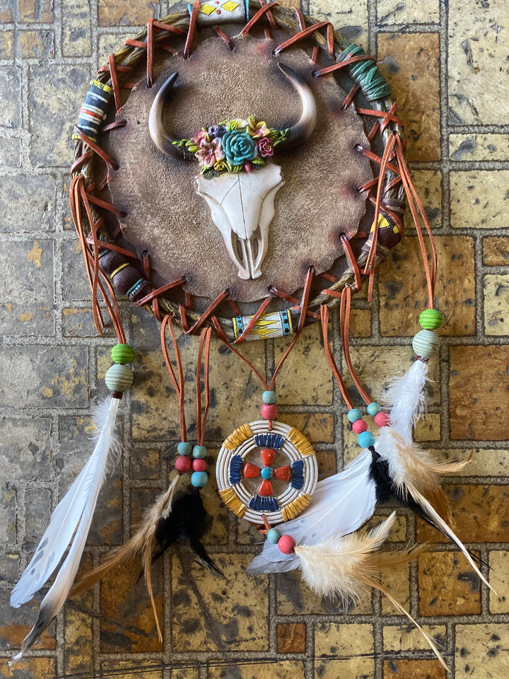 P9S1920GFT Skull Dream Catcher