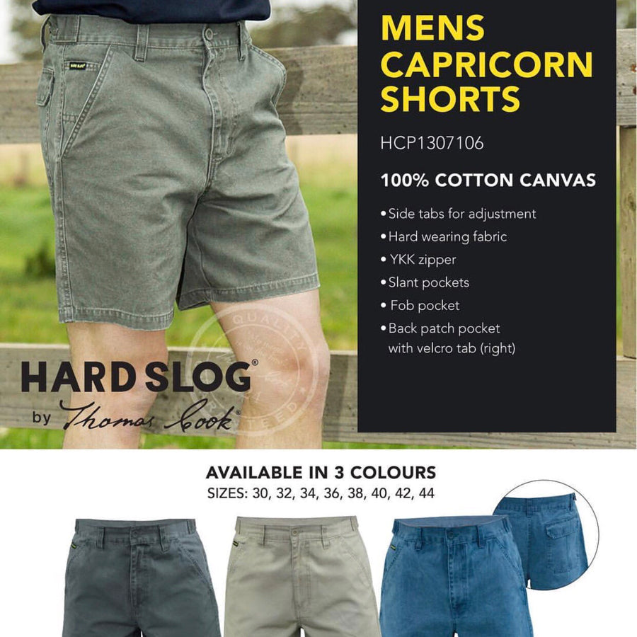 HCP1307106 Mens Hard Slog Capricorn Shorts - Sand