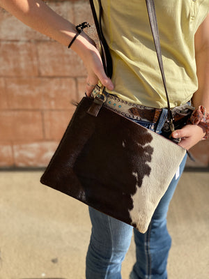 A0064-1 COWHIDE CLUTCH DOUBLE