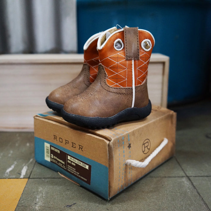 Roper Infant  Boone Brown Boot