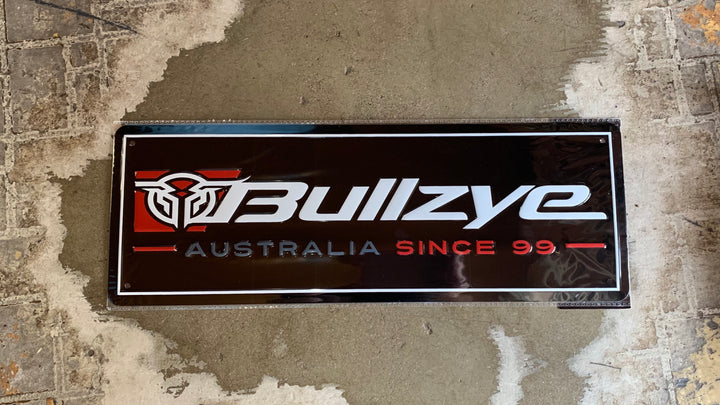 B1W1922GFT Bullzye Metal Sign Red